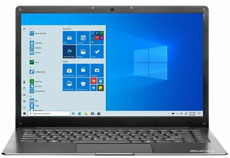 "Evoo Ultra Thin Laptop 14.1"" Full HD Intel Celeron N3350 4GB RAM 64GB SSD"
